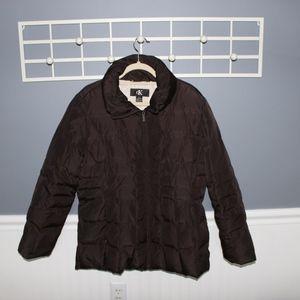 Brown Calvin Klein Puffer Jacket
